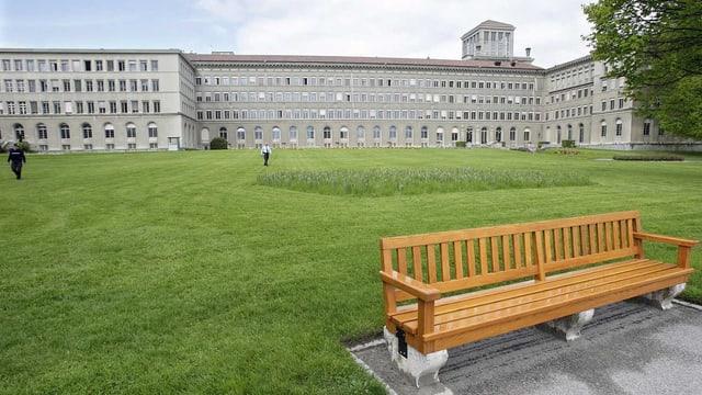 WTO-Gebäude von aussen.