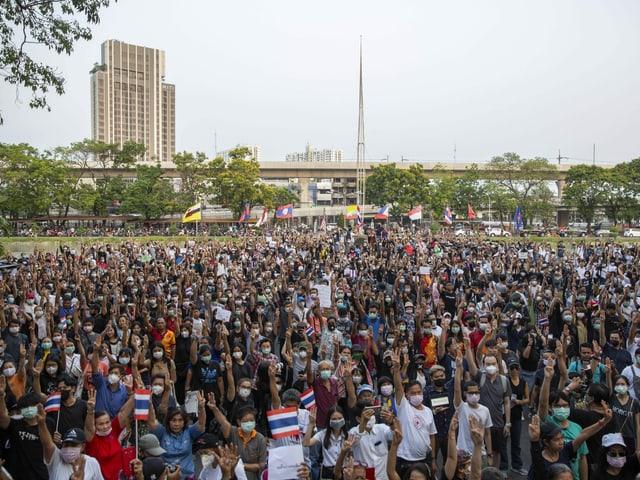 Tausende Protestanten