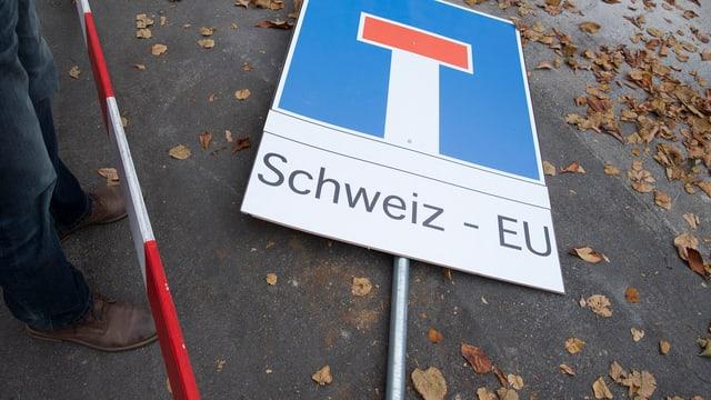 EU-Schweiz-Schild