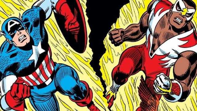 Captain America und The Falcon stürmen nach vorne