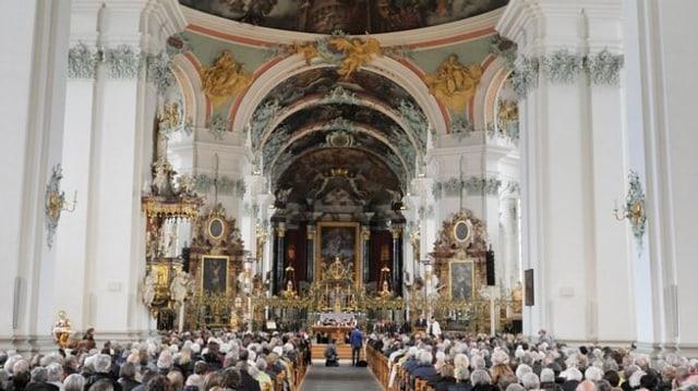 Blick in die Klosterkirche St. Gallen