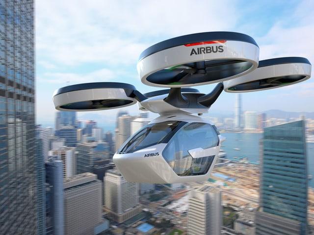 Ein Aribus-Taxi in der Luft.