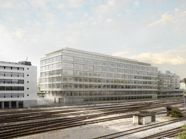 Projektbild eines neuen Gebäudes.