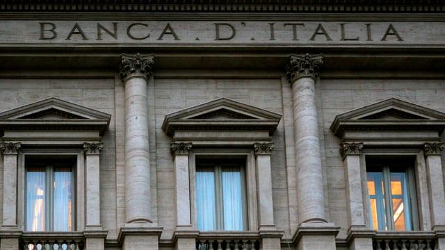Fassade der italienischen Nationalbank.