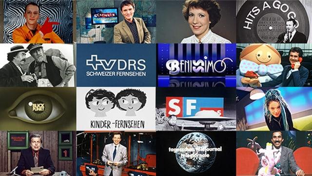 Collage von alten Sendungssigneten