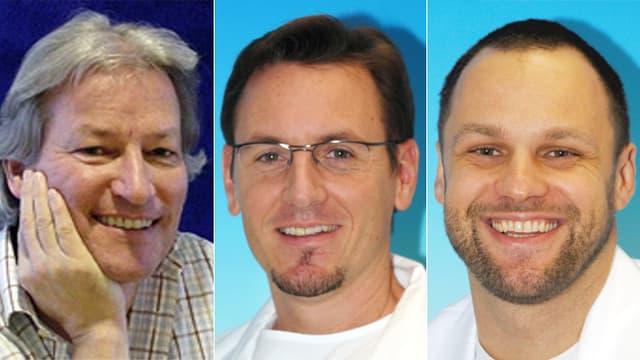 Dr. Werner Maurer,  Dr. Philipp Sahrmann und PD Dr. Patrick R. Schmidlin
