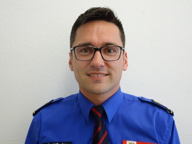 Der Berner Polizist Simon Würgler (33) wurde am 16. Mai 2010 bei einem Fussballspiel angegriffen.