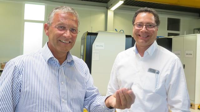 Posalux-CEO René Stössel mit Entwicklungschef Marco Nadalin
