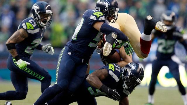 Verteidigung der Seahawks in Aktion.