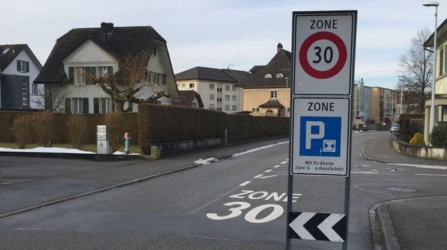 Signalisation Tempo 30 in Gerlafingen