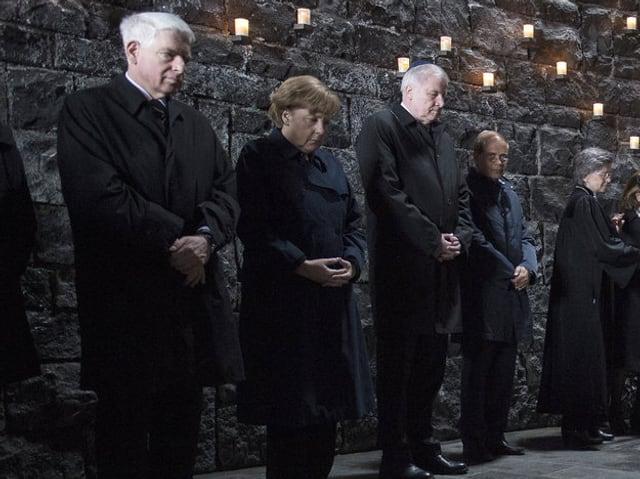 Gedenken im KZ Dachau.