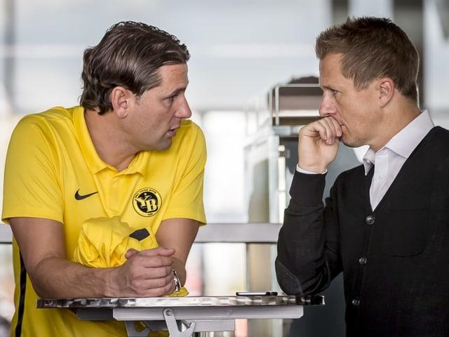 Trainer Gerardo Seoane und Sportchef Christoph Spycher.