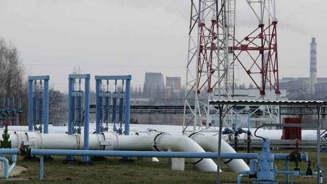 Die Pipeline «Druschba» in Weissrussland.
