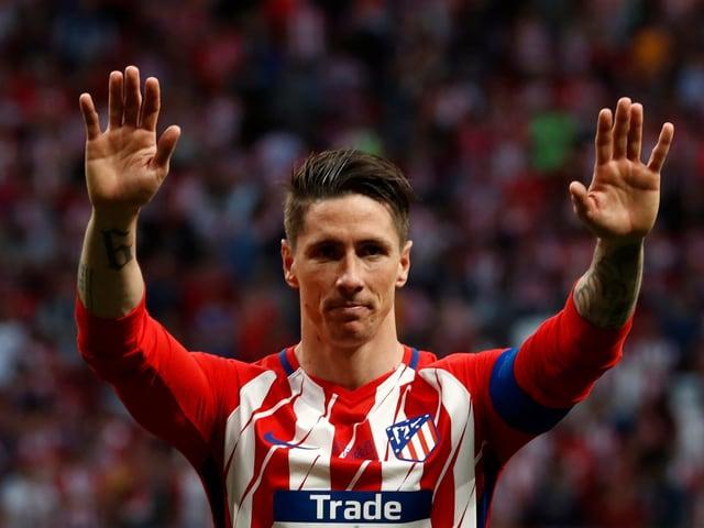 Fernando Torres bei seinem Abschied von Stammklub Atletico Madrid 2018.
