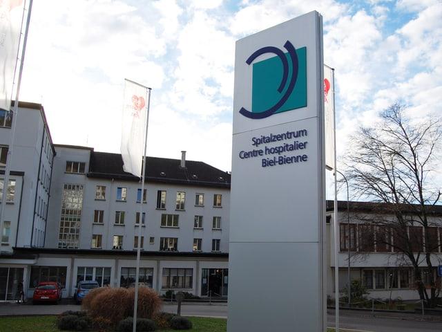 Eingang zum Spitalzentrum Biel-Bienne