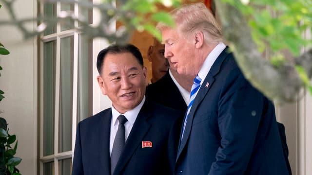 Donald Trump è s'inscuntrà en la Chas'alva cun il delegà nord corean Kim Jong Chol.