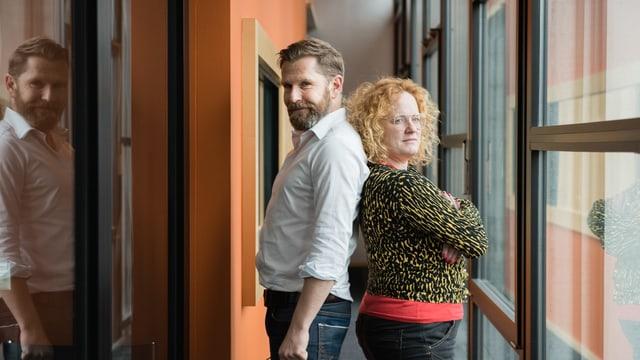 Sie sind Timo und Paps: Samuel Streiff und Fabienne Hadorn