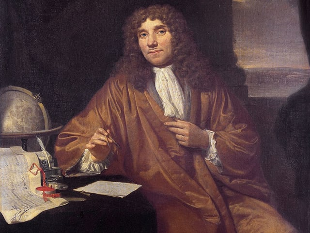 Antoni van Leeuwenhoek auf einem Ölgemälde im Museum Boerhave in Leiden.