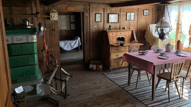 Ein bäuerliches Wohnzimmer aus verangenen Zeiten.
