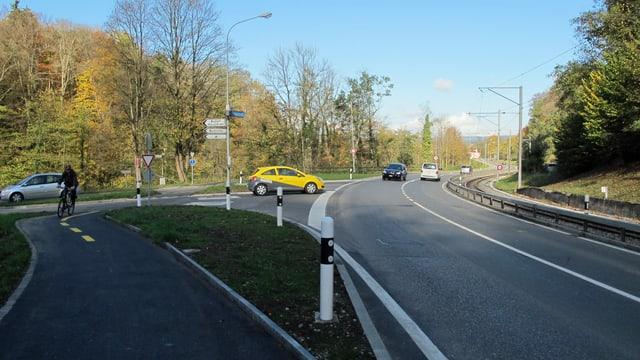 T-Kreuzung kurz vor Frauenfeld.