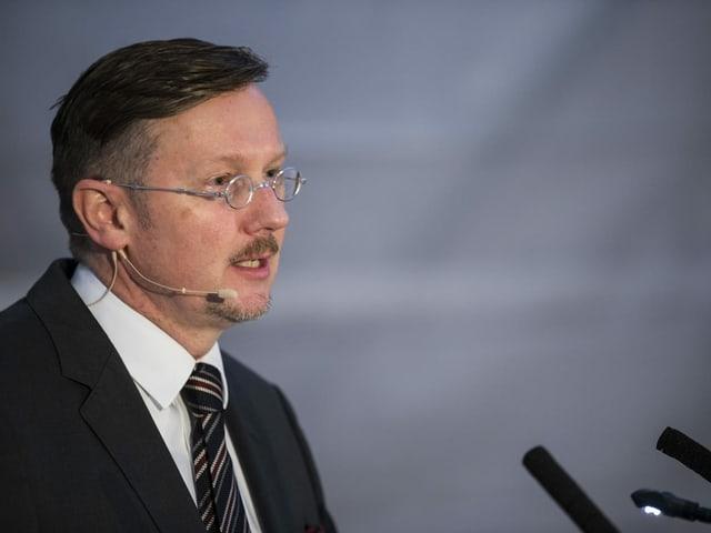 Fehlmann bei Ansprache