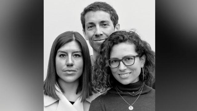 Las schurnalistas ed il schurnalist da l'onn 2021: Sylvia Revello, Boris Busslinger, Célia Héron.