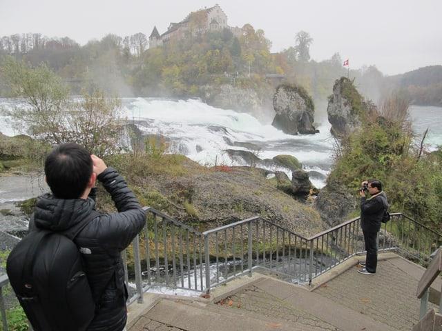 Wieder hoch im Kurs bei den asiatischen Gästen: Der Rheinfall.