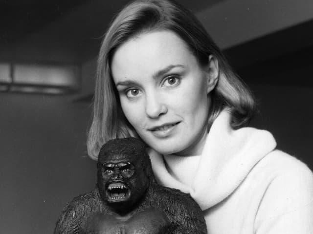 Jessica Lange mit einer King Kong Figur