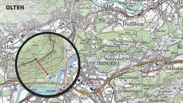Karte von Olten