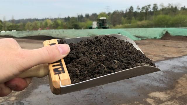 Kompost aus Komposttoiletten