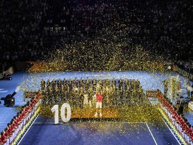 Bereits 10 Mal konnte Roger Federer sein Heimturnier, die Swiss Indoors, gewinnen.