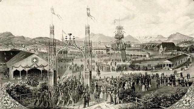 Festgelände des Eidgenössischen um 1853
