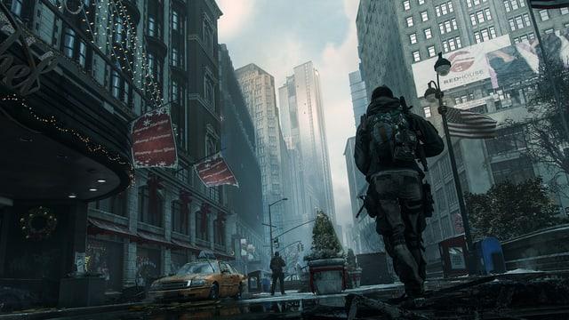 Agenten in den Strassenschluchten New Yorks.
