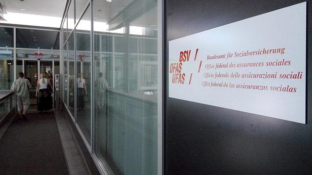 Eingang Bundesamt für Sozialversicherungen