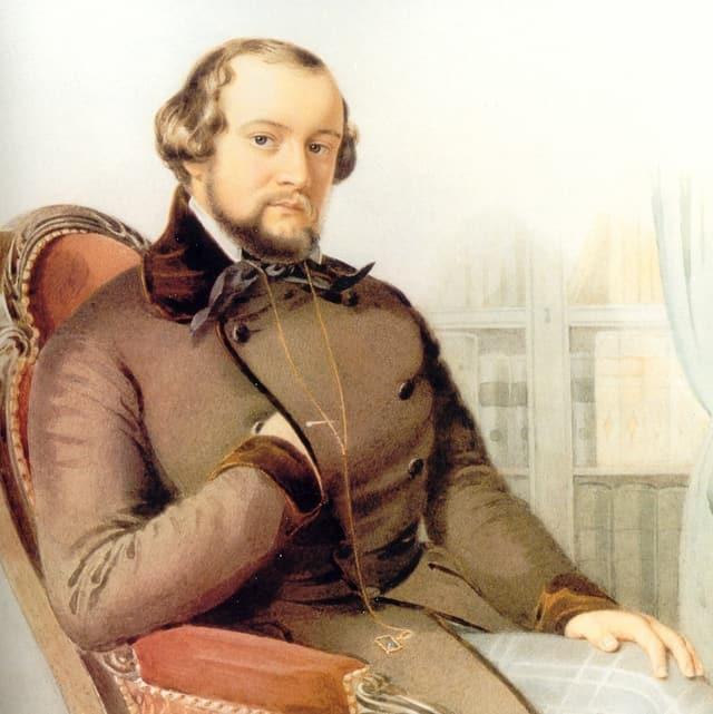 Alfred Escher als Nationalratspräsident 1849