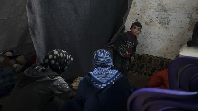 Das Flüchtlingslager Idlib.