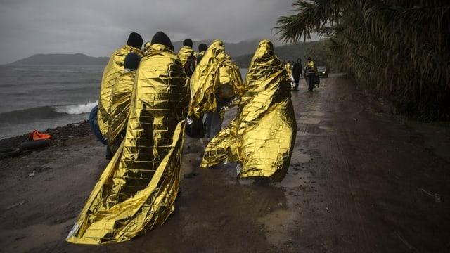 Flüchtlinge an der griechischen Küste