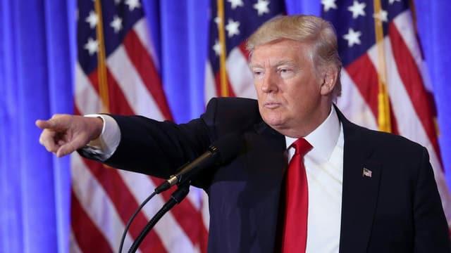 Donald Trump während einer Medienkonferenz.
