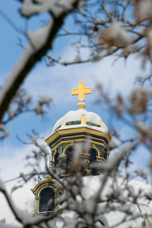 Kreuz auf Bundeshaus.