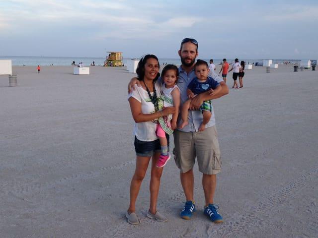 Jahzel Casanova e sia famiglia