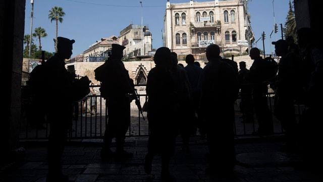 Militär an einem Kontrollposten in der Jerusalemer Altstadt.