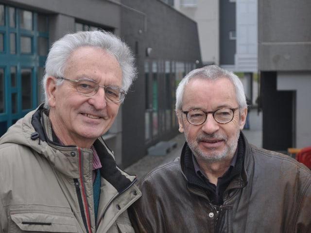 Erwin Nussbaumer und Paul Stulz vom Quartierverein Schönberg.