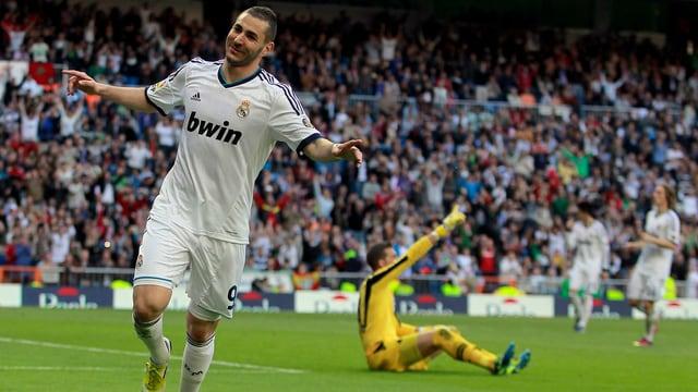 Karim Benzema feierte gegen Betis Sevilla ein persönliches Erfolgserlebnis.