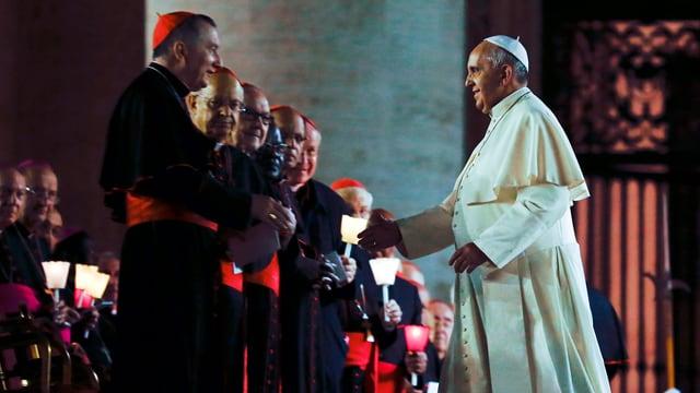 Papst und Kardinäle in Rom
