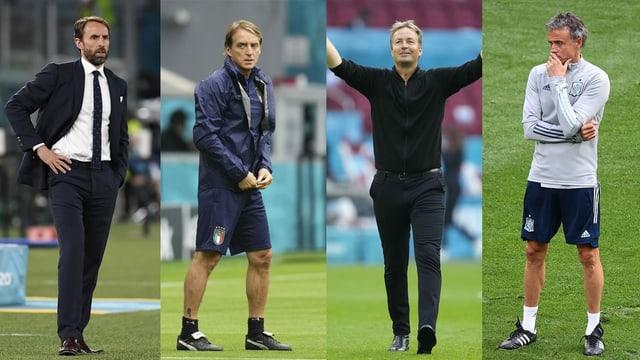 Southgate, Mancini, Hjulmand und Enrique