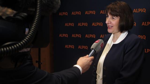 Jasmin Staiblin beim Interview