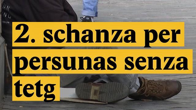 Laschar ir video «2. schanza per persunas senza tetg»