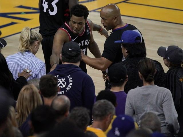 Raptors-Spieler Kyle Lowry in einem Wortgefecht