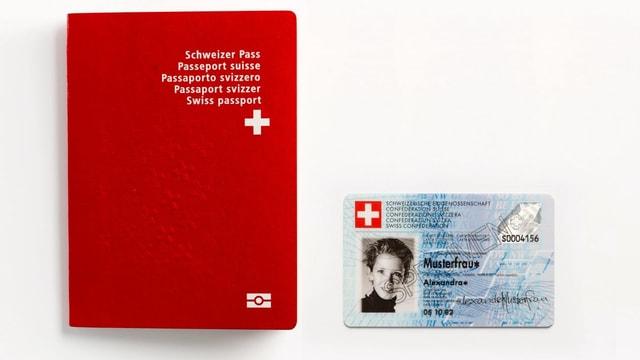 Pass e carta d'identitad.
