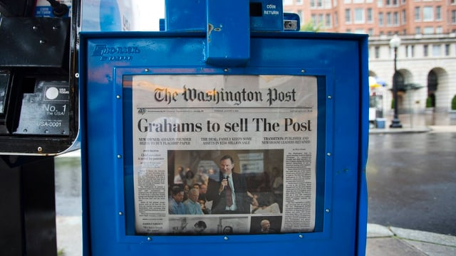 Zeitungsautomat der «Washington Post».